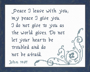 Peace I Leave With You | Crafting | Cross-Stitch | Other