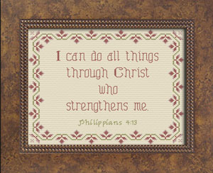 I Can With Christ | Crafting | Cross-Stitch | Other