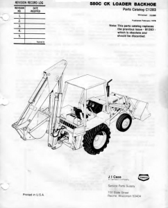 Pdf Download Case Tractor 580C 580CK Parts Manual INSTANT DOWNLOAD | eBooks | Automotive