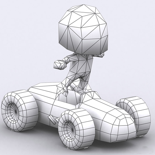 First Additional product image for - Chibii racers - retro cars 3D