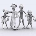 Fantasy Toonworld Zombie family 3D Full HD | Photos and Images | Children