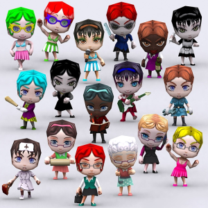 Chibii people females 3D | Photos and Images | Children