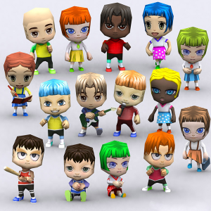 Chibii-people-kids-boys-girls 3D | Photos and Images | Children