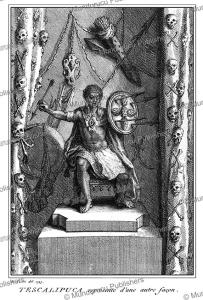 aztec god tescalipuca, bernard picart, 1735