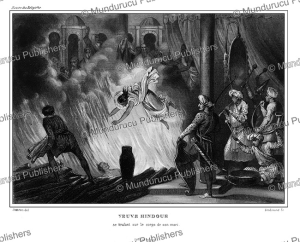 Hindu widow throws herself into the fire of her husband, India, Jeanron, 1845 | Photos and Images | Travel