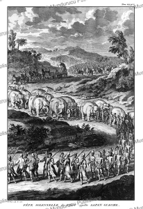 solemn feast of pegu (burma) called sapan glacche, bernard picart, 1735