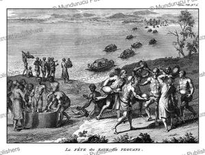 peguans of burma celebrating the feast of the water, bernard picart, 1735
