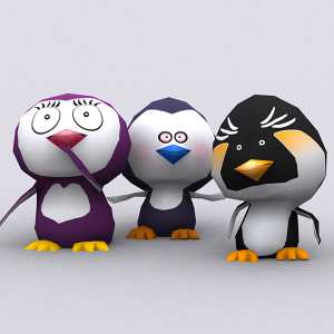 Eskimo vs penguins 3d lowpoly pack | Photos and Images | Children