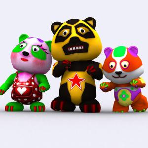 Toonpets Pandas pack 3D   Photos and Images   Children