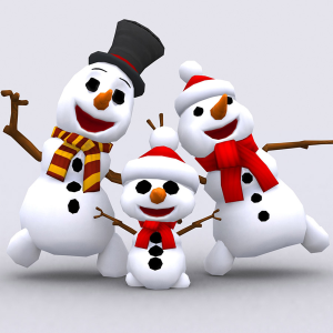 Crazy dancing snowmen family 3D | Photos and Images | Children