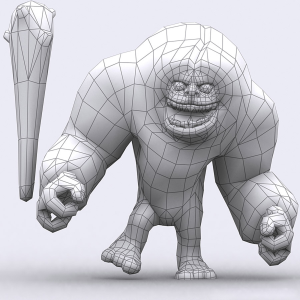 Toon Yeti  animated lowpoly 3d model | Photos and Images | Children
