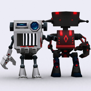Chibii Robots lowpoly 3d animated pack | Photos and Images | Children