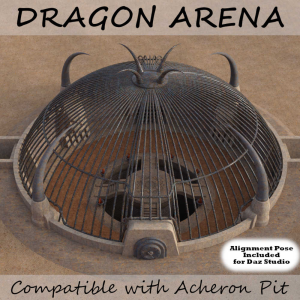 dragon arena {on sale} ultimate dragon fighting cage for daz studio and poser