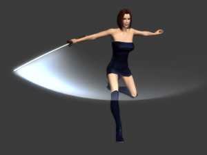 Fully rigged and animated Female Ninja 3D model | Photos and Images | Fashion