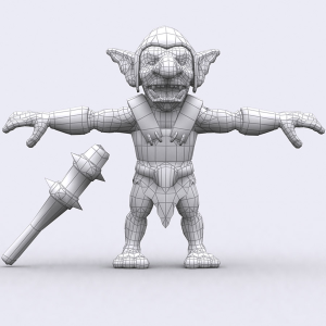 goblins warriors lowpoly 3d animated pack