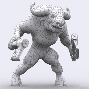 minotaurs 3d characters monsters pack