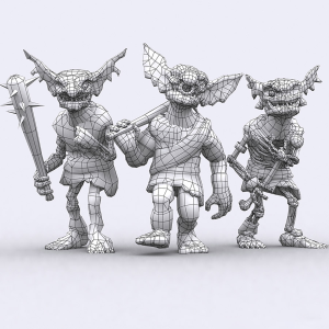 goblins undead lowpoly 3d animated