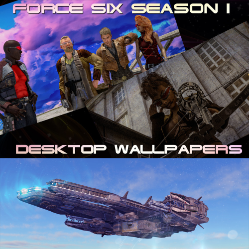 First Additional product image for - Wallpapers Force Six Season I