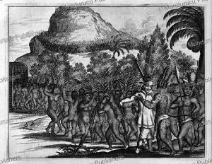 Columbus and the king of Hispaniola, Arnoldus Montanus, 1671 | Photos and Images | Travel