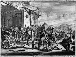 spaniards punishing natives of haiti, c. 1550