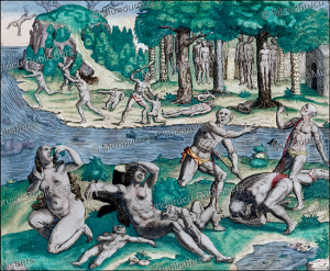 Native Americans committing suicide to avoid Spanish brutalities, Theodor de Bry, 1594 | Photos and Images | Travel
