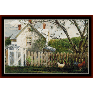 Fenced Out - Americana cross stitch pattern by Cross Stitch Collectibles | Crafting | Cross-Stitch | Other