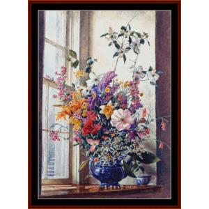 May Flowers - Americana cross stitch pattern by Cross Stitch Collectibles | Crafting | Cross-Stitch | Other