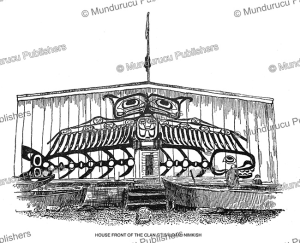 kwakiutl house front, thunderbird grasping whale, franz boas, 1897