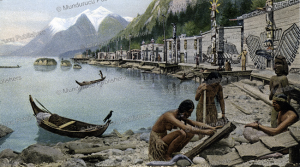 kwakiutl village, 1898