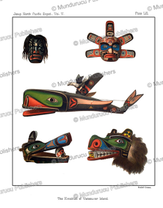 Kwakiutl masks used in their winter dances, Rudolf Cronau, 1909 | Photos and Images | Travel