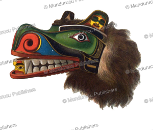 kwakiutl mask of the grizzly bear, rudolf cronau, 1909