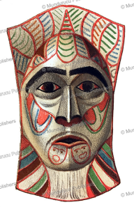 bella coola mask used in a winter dance, franz boas, 1890