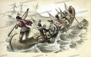 A missionary descending the rapids in a canoe, 1852 | Photos and Images | Travel