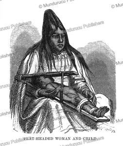 flathead woman, johann baptist zwecker, 1870