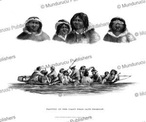 tattooed inhabitants of cape thompson, frederick william beechey, 1830