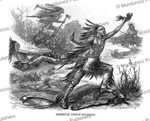 american indians scalping their enemies, johann baptist zwecker, 1870