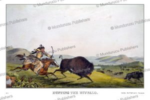 Hunting the Buffalo, Plains, Thomas McKenney, 1872 | Photos and Images | Travel