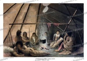 Interior of a Cree Indian tent, Great Plains, R.N. Hood, 1820 | Photos and Images | Travel