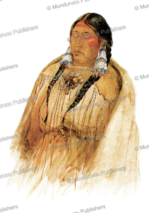 cree woman at fort union, great plains, karl bodmer, 1840