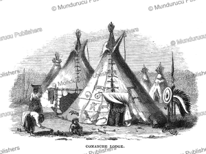 Comanche tent, Great Plains, Colonel R.B. Marcy, 1866 | Photos and Images | Travel