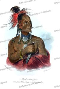 meach-o-shin-gaw, the little white bear, a konza (kaw) warrior, george catlin, 1848