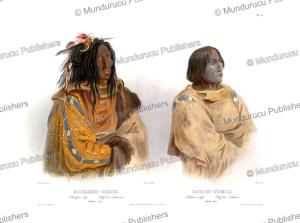 Blackfoot-chief Mehkskeme-Sukahs and Piekann chief Tatsicki-Stomick, Karl Bodmer, 1843 | Photos and Images | Travel