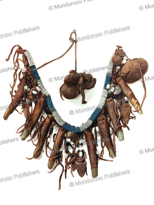 necklace of human fingers worn by cheyenne medicine man, john g. bourke, 1893