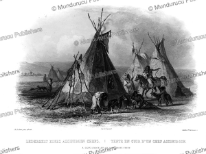 A skin lodge for an Assiniboine chief, Great Plains, Karl Bodmer, 1839 | Photos and Images | Travel