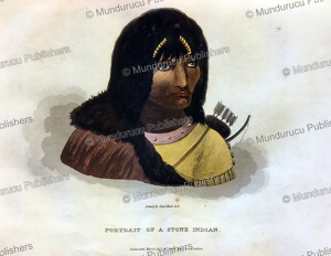 portrait of a stone indian (assiniboine), great plains, r.n. back