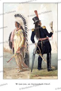 wi-jun-jon, an assiniboine chief, great plains, george catlin, 1845