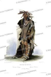 Wahk-Ta¨-Ge-Li, a Sioux Warrior, Karl Bodmer, 1840 | Photos and Images | Travel