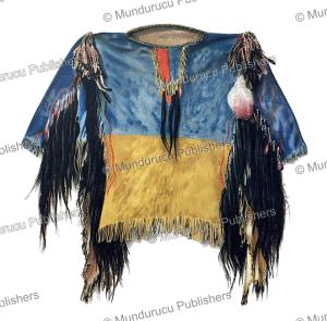 scalp shirt of sioux medicine man called little big man, john g. bourke, 1893