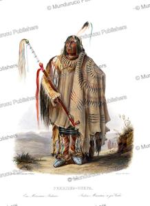Minnetaree or Hidatsa Indian, Karl Bodmer, 1840 | Photos and Images | Travel