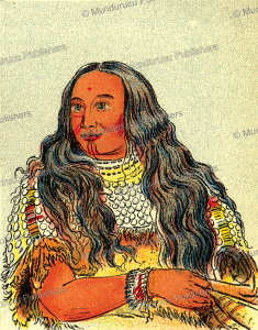 sioux woman that was married to a white man, george catlin, 1923